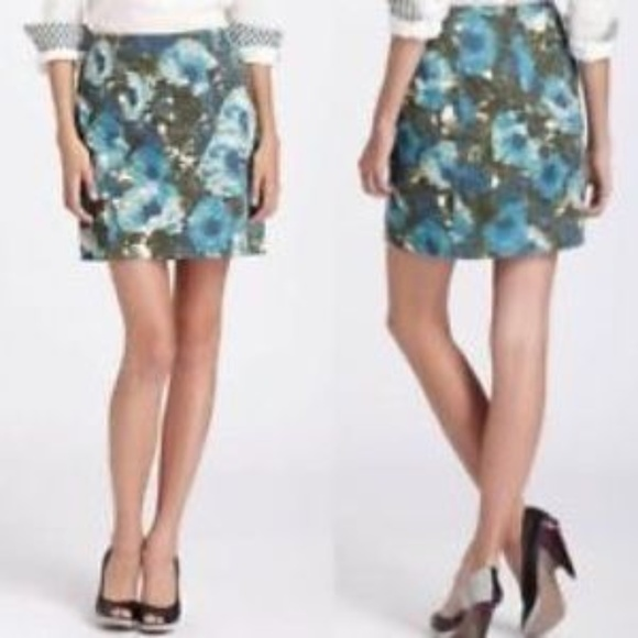 Anthropologie Dresses & Skirts - Anthropologie 9 H15 Calabria Corduroy Floral Skirt